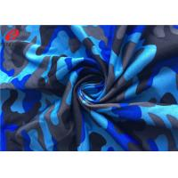 4 Way Stretch Polyester Spandex Printed Fabric Weft Knitted Fabric For  Sportswear Manufactures