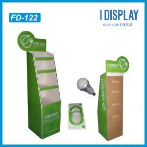point of sale cardboard floor display racks for LED light Manufactures