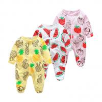 Buy cheap Custom Pattern Print Newborn Cotton Romper , Organic Cotton Baby Clothes from wholesalers