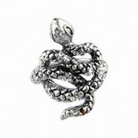 High-grade Alloy Anti-silver-plated Ring with Rhinestone, Fashion, Latest Style and Special Design Manufactures