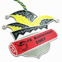 China Aluminum Metal Award Medals , Custom Event Medals Gold Sex Russia Rectangle Royal Rugby on sale