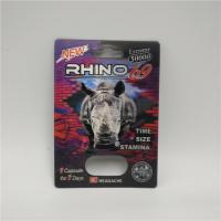 Plastic Empty Medicine Bottles Male Enhancement Rhino 99 Pills Blister Card With Display Box Manufactures