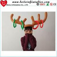 Christmas Toy Children Kids Inflatable Santa Funny Antler Hat Ring Toss Christmas Holiday Party Manufactures