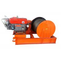 Compact 5T Variable Speed Diesel Engine Power Winch For Cable Pulling Manufactures