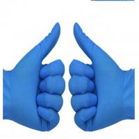 Blue Medical Examination Nitrile Gloves Texfured finger used in medical examination and treatment Manufactures