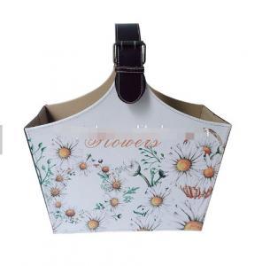 Colorful Custom printed design decorative picnic fruit organizer Basket Bag Fashion Bucket Handbag Basket Manufactures