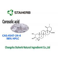 Triterpenoid Compound Banaba Leaf Extract CAS 4547-24-4 Corosolic Acid 98% HPLC Manufactures
