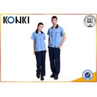 Custom Polyester / Cotton Fabric Custom Work Uniform For Workers Manufactures