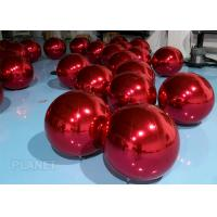 Dazzle Color Inflatable Mirror Ball , 60cm Inflatable Disco Balloon For Wedding Decoration for sale