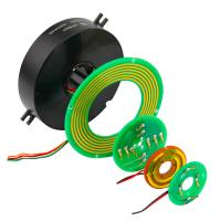 China 2 Circuits 5A Pancake Slip Ring with Precious Metal Contact for Emergency Lighting on sale