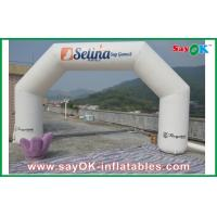 White Advertising 0.45mm PVC Inflatable Arch , Inflatable Star Finish Line Outdoor Manufactures