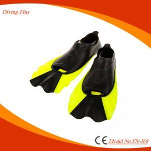 China Fast Remove Lock Design Short Swim Fins For Snorkeling / Diving on sale