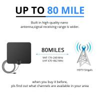 China HDTV Antenna 2019 Newest 120 Miles Long Range Indoor ABS Digital HDTV Antenna with Amplifier Signal Booster on sale
