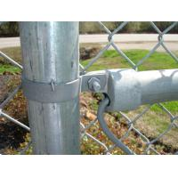 Hot Dipped Galvanized Chain Link Mesh Silver / Green Color Manufactures