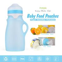 China Non-Toxic Foldable Light Weight FDA Approved 250 OZ Silicone Feeding Bottle For Outdoor Travellers for sale