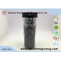 Double Wall Eco Friendly Travel Mugs , Plastic Coffee Cups With Lids 350ml 12oz Manufactures