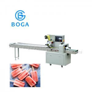 China Anti Cutting Food Packaging Line / Ice Cream Horizontal Flow Wrap Machine on sale