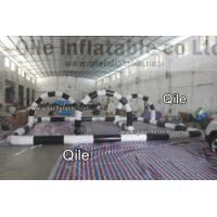 Customized Inflatable Go Kart Track For Toddlers white And Black Manufactures