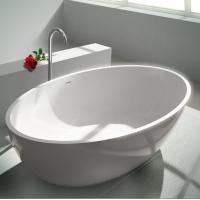 Stable Small Freestanding Soaking Tub Stand Alone Bathtubs 134KGS Manufactures