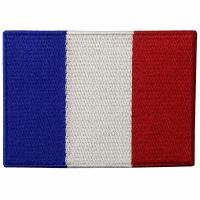 France Embroidery Iron On Flag Patches Washable Custom Cloth Patches Manufactures