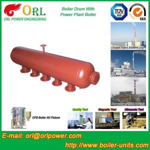 Water Heat Boiler Mud Drum Anti Wind Single Type , Mud Drum In Boiler Manufactures