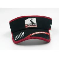 Quality Summer Black And Red Sun Visor Cap Cotton Embroidery Adjustable for sale