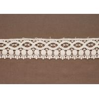 Custom White 100 % Cotton Lace Crafts Clothing Trimmings Garment Accessory Fabric Manufactures