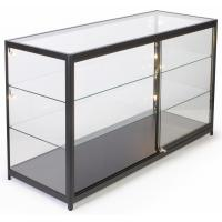 72 Inch Mobile Counter Display Showcase , Sliding Door Lighted Glass Display Case