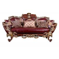 Golden Foil High Class Solid Wooden Sofa And Chaise Lounge Designs Manufactures