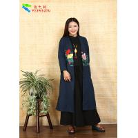 Adults Casual Chinese Style Winter Coats Embroidered Anti Shrink For Outdoor Manufactures