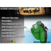 China Oled Display All In One Cree Led Cap Lamp , Super Bright Coal Mining Lights With Sos Purpose on sale