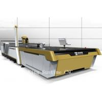 China Diamond Hardness Blade Cnc Leather Cutting Machine Continuous Up - Down Cutting on sale