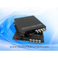 4CH AHD media fiber converter for coaxial and ip camera hybrid application Manufactures