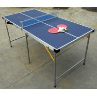 China 5FT Folding Indoor Table Tennis Table , Easy Carrying Portable Ping Pong Table on sale