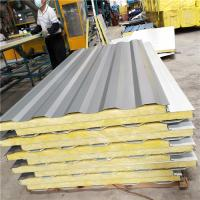 50mm 0.6mm galvanized glass wool container house sandwich wall panel for worker house Manufactures