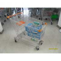 Asian Type 180L Supermaket Wire Shopping Cart Trolley With 4inch flat TPE casters Manufactures