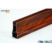Structural AA6063 T5 Window Aluminium Frame Wood Grain Surface Manufactures