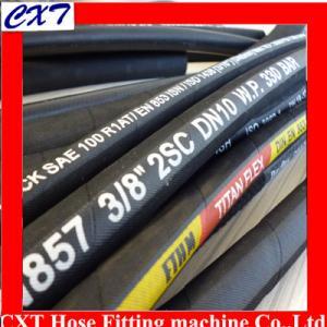 China SAE 100 R1,R2,R3,R4,R5,R6,R7,R8,R9,R12,R13steel wire braided hydraulic rubber hose on sale