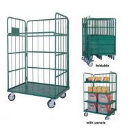 Logistic Material Handling Galvanized Steel Trolley for Warehouse for sale