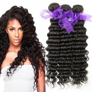 Peruvian Deep Wave HairBundles No Shedding , Peruvian Hair Deep Body Wave Manufactures