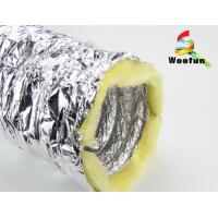 Quality Silver Aluminium HVAC Duct Insulation Wrap , Fire Retardant Insulated Exhaust Duct for sale