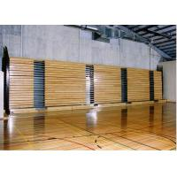 Warm / Natural Retractable Bleacher Seating Timber Bench Clear Polyurethane Manufactures