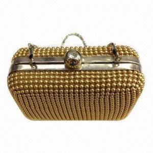 Metal Mesh Net Evening Bag for Women, Aluminum Handbag, Handicraft Beaded Bag Manufactures