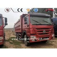 China 6x4 Used 10 Wheeler Truck , Sinotruk Howo Second Hand Tipper Trucks ISO SGS on sale