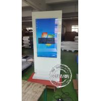 Lcd Touch Screen Kiosk Advertising Totem / Interactive Free Standing Digital Signage Manufactures