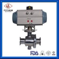 China Non Retention Sanitary Ball Valve  Aluminum Pneumatic Actuator Driven on sale