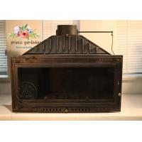 Indoor Freestanding Cast Iron Fireplace Hand Carved And Polished Manufactures