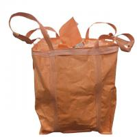 Industrial Use Orange 1 Ton Bulk Bag Flat Bottom With Spout / Side Discharge Design Manufactures