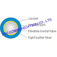 China Single Mode Simplex 2.0mm Optical Fiber Cable , Ftth / Lan outdoor Armored Fiber Optic Cable on sale