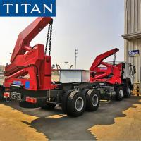 China TITAN side loader trailer 20ft container hammar lift trailer truck for sale on sale